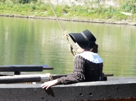 A photograph of myself taken by my good friend Cassidy Foxcroft, during the York Boat arrival program in August 2011 at Fort Edmonton Park.