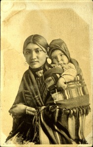 This is a woman and child. Postcard 9711. Taken at Medicine Hat, Alberta, before 1907. Courtesy of Peel's Prairie Provinces.