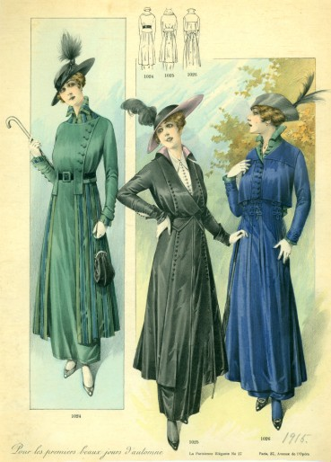 Autumn outfits, 1915, courtesy of the University of Washington collection.