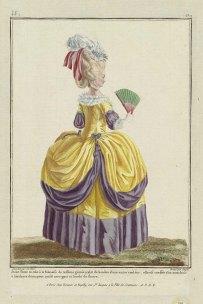 Image courtesy of the Museum of Fine Arts. http://www.mfa.org/collections/object/gallerie-des-modes-et-costumes-fran%C3%A7ais-30e-cahier-de-costumes-fran%C3%A7ais-23e-suite-dhabillements-%C3%A0-la-mode-en-1780-ff180-jeune-dame-en-robe-%C3%A0-la-polonaise-349488